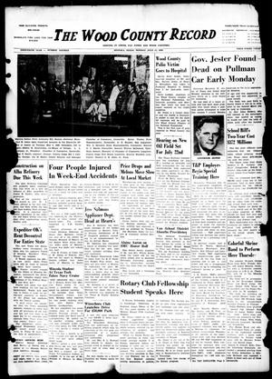 The Wood County Record (Mineola, Tex.), Vol. 20, No. 16, Ed. 1 Monday, July 11, 1949