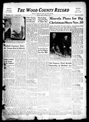 The Wood County Record (Mineola, Tex.), Vol. 20, No. 30, Ed. 1 Monday, October 17, 1949