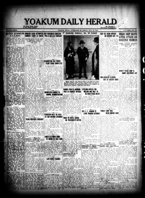 Primary view of object titled 'Yoakum Daily Herald (Yoakum, Tex.), Vol. 36, No. 171, Ed. 1 Friday, October 21, 1932'.