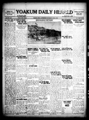 Primary view of object titled 'Yoakum Daily Herald (Yoakum, Tex.), Vol. 35, No. 53, Ed. 1 Tuesday, June 2, 1931'.
