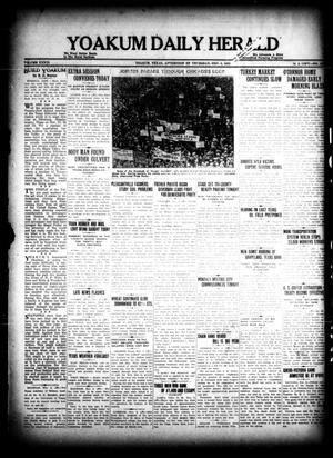 Primary view of object titled 'Yoakum Daily Herald (Yoakum, Tex.), Vol. 36, No. [182], Ed. 1 Thursday, November 3, 1932'.