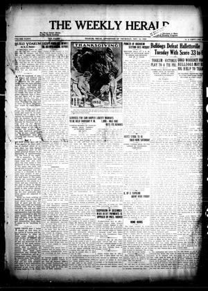Primary view of object titled 'The Weekly Herald (Yoakum, Tex.), Vol. 36, No. [35], Ed. 1 Thursday, November 24, 1932'.