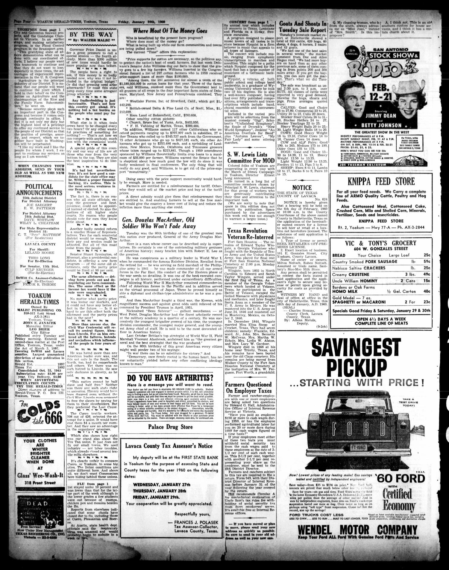 Yoakum Herald-Times (Yoakum, Tex ), Vol  64, No  9, Ed  1