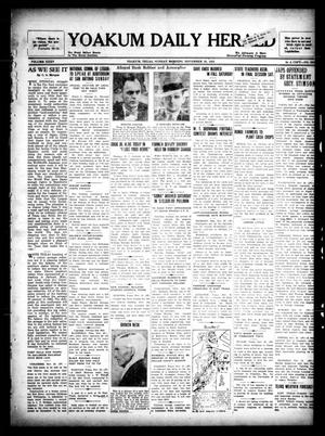 Primary view of object titled 'Yoakum Daily Herald (Yoakum, Tex.), Vol. 35, No. 202, Ed. 1 Sunday, November 29, 1931'.