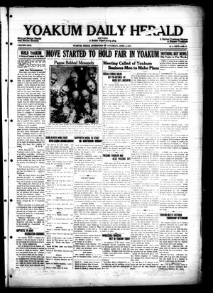 Primary view of object titled 'Yoakum Daily Herald (Yoakum, Tex.), Vol. 29, No. 4, Ed. 1 Saturday, April 4, 1925'.