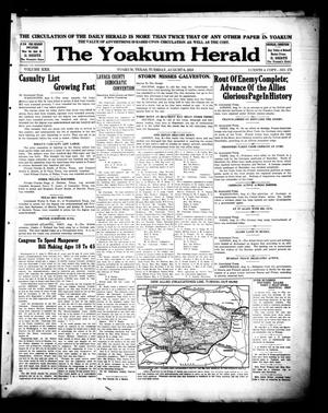 Primary view of object titled 'Yoakum Daily Herald (Yoakum, Tex.), Vol. 22, No. 175, Ed. 1 Tuesday, August 6, 1918'.