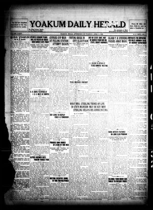 Primary view of object titled 'Yoakum Daily Herald (Yoakum, Tex.), Vol. 36, No. 4, Ed. 1 Tuesday, April 5, 1932'.
