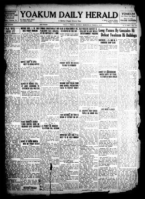 Primary view of object titled 'Yoakum Daily Herald (Yoakum, Tex.), Vol. 33, No. 159, Ed. 1 Sunday, October 6, 1929'.