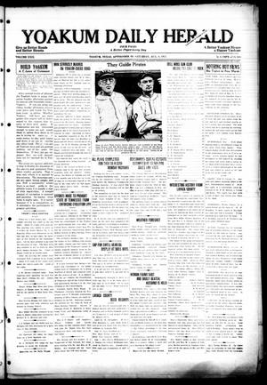 Primary view of object titled 'Yoakum Daily Herald (Yoakum, Tex.), Vol. 29, No. 109, Ed. 1 Saturday, August 8, 1925'.