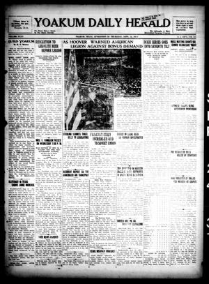 Primary view of object titled 'Yoakum Daily Herald (Yoakum, Tex.), Vol. 35, No. 148, Ed. 1 Thursday, September 24, 1931'.