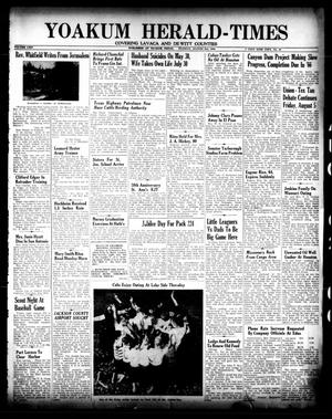 Primary view of object titled 'Yoakum Herald-Times (Yoakum, Tex.), Vol. 64, No. 61, Ed. 1 Tuesday, August 2, 1960'.