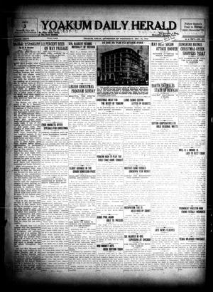Primary view of object titled 'Yoakum Daily Herald (Yoakum, Tex.), Vol. 36, No. 221, Ed. 1 Wednesday, December 21, 1932'.
