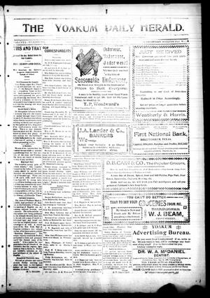 Primary view of object titled 'The Yoakum Daily Herald. (Yoakum, Tex.), Vol. 2, No. 196, Ed. 1 Wednesday, October 26, 1898'.