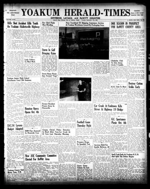 Primary view of object titled 'Yoakum Herald-Times (Yoakum, Tex.), Vol. 67, No. 74, Ed. 1 Tuesday, September 17, 1963'.