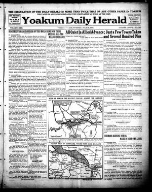 Primary view of object titled 'Yoakum Daily Herald (Yoakum, Tex.), Vol. 22, No. 163, Ed. 1 Tuesday, July 23, 1918'.