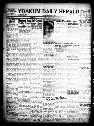 Primary view of object titled 'Yoakum Daily Herald (Yoakum, Tex.), Vol. 33, No. 165, Ed. 1 Sunday, October 13, 1929'.