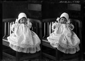 Primary view of object titled '[Portraits of Baby with Bonnet]'.