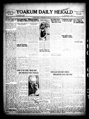 Primary view of object titled 'Yoakum Daily Herald (Yoakum, Tex.), Vol. 35, No. 108, Ed. 1 Thursday, August 6, 1931'.