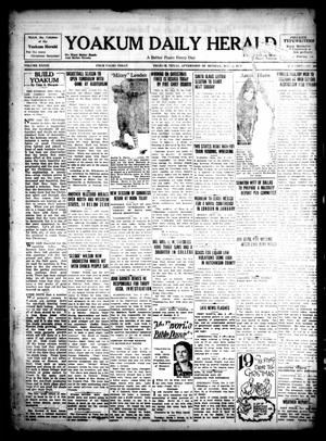 Primary view of object titled 'Yoakum Daily Herald (Yoakum, Tex.), Vol. 33, No. 206, Ed. 1 Monday, December 2, 1929'.