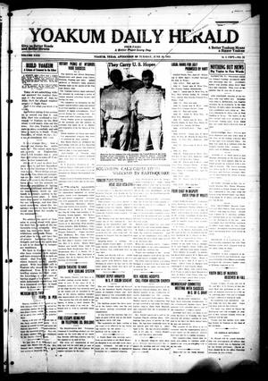 Primary view of object titled 'Yoakum Daily Herald (Yoakum, Tex.), Vol. 29, No. 76, Ed. 1 Tuesday, June 30, 1925'.