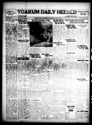Primary view of object titled 'Yoakum Daily Herald (Yoakum, Tex.), Vol. 35, No. 55, Ed. 1 Thursday, June 4, 1931'.
