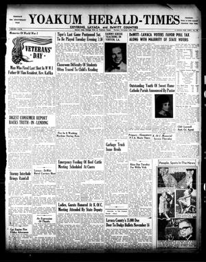 Primary view of object titled 'Yoakum Herald-Times (Yoakum, Tex.), Vol. 67, No. 90, Ed. 1 Tuesday, November 12, 1963'.