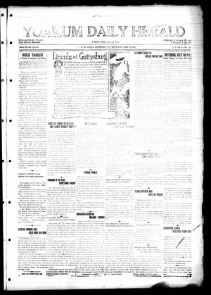 Primary view of object titled 'Yoakum Daily Herald (Yoakum, Tex.), Vol. 28, No. 310, Ed. 1 Thursday, February 12, 1925'.