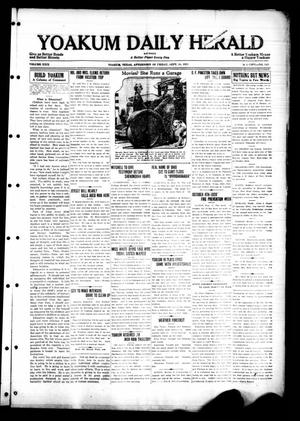 Primary view of object titled 'Yoakum Daily Herald (Yoakum, Tex.), Vol. 29, No. 143, Ed. 1 Friday, September 18, 1925'.