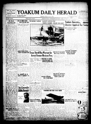 Primary view of object titled 'Yoakum Daily Herald (Yoakum, Tex.), Vol. 33, No. 216, Ed. 1 Friday, December 13, 1929'.