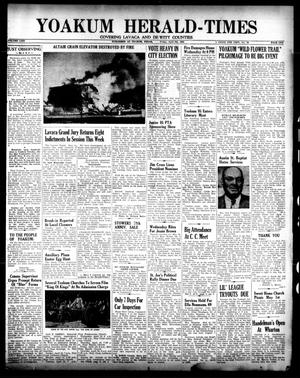 Primary view of object titled 'Yoakum Herald-Times (Yoakum, Tex.), Vol. 64, No. 29, Ed. 1 Friday, April 8, 1960'.
