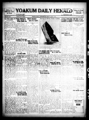 Primary view of object titled 'Yoakum Daily Herald (Yoakum, Tex.), Vol. 35, No. 56, Ed. 1 Friday, June 5, 1931'.