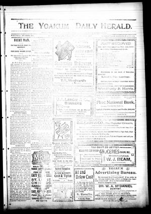Primary view of object titled 'The Yoakum Daily Herald. (Yoakum, Tex.), Vol. 2, No. 198, Ed. 1 Thursday, October 27, 1898'.