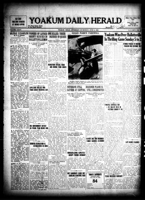 Primary view of object titled 'Yoakum Daily Herald (Yoakum, Tex.), Vol. 36, No. 55, Ed. 1 Monday, June 6, 1932'.
