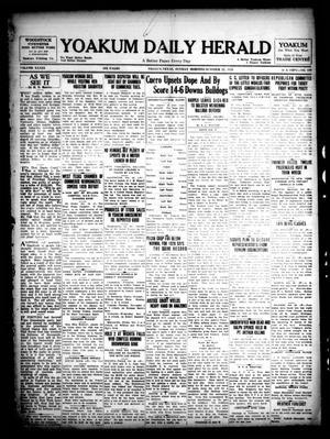 Primary view of Yoakum Daily Herald (Yoakum, Tex.), Vol. 33, No. 177, Ed. 1 Sunday, October 27, 1929