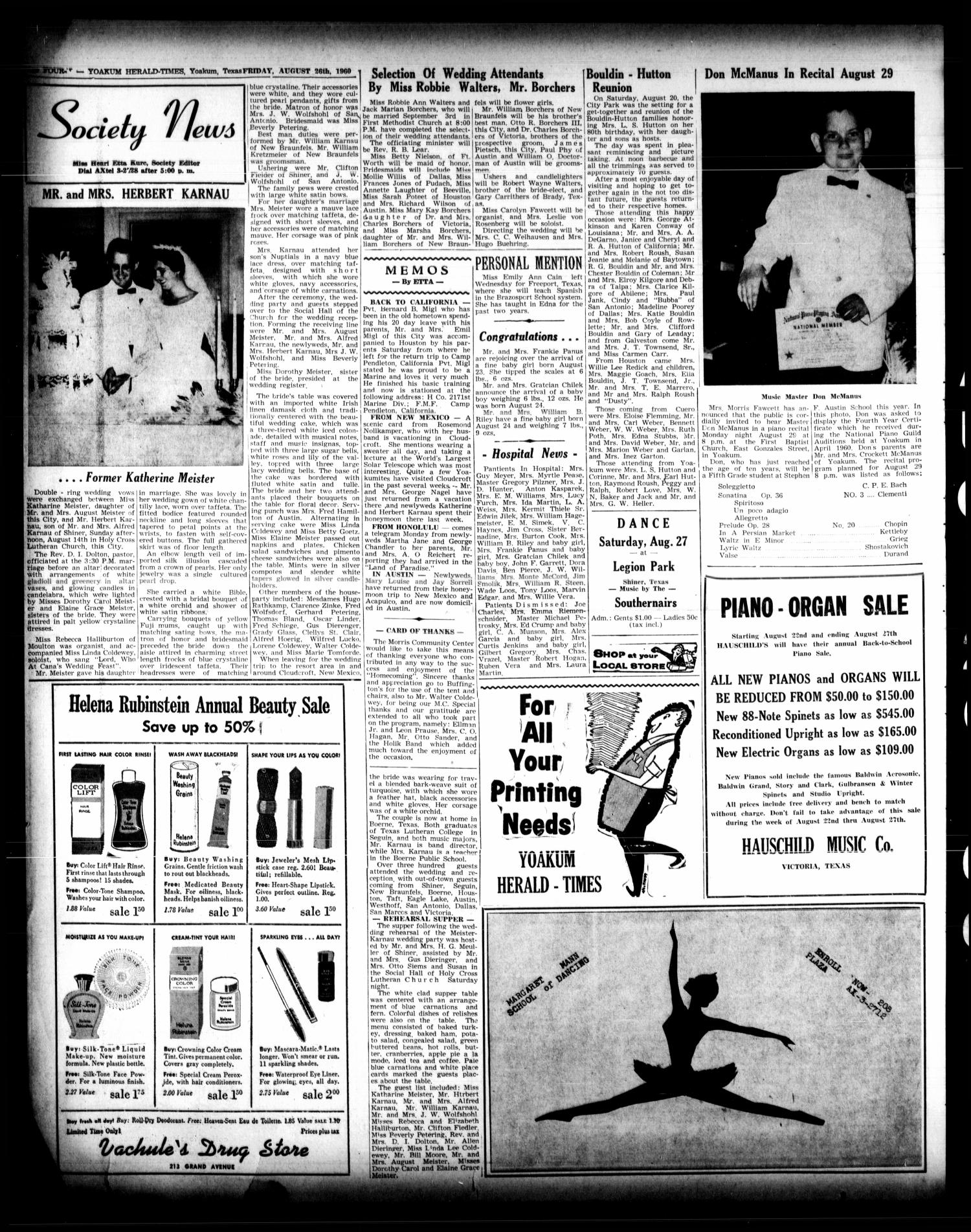 Yoakum Herald-Times (Yoakum, Tex ), Vol  64, No  68, Ed  1