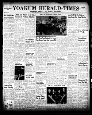 Primary view of object titled 'Yoakum Herald-Times (Yoakum, Tex.), Vol. 67, No. 99, Ed. 1 Friday, December 13, 1963'.