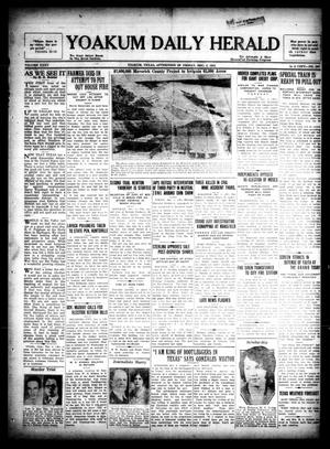 Primary view of object titled 'Yoakum Daily Herald (Yoakum, Tex.), Vol. 35, No. 207, Ed. 1 Friday, December 4, 1931'.