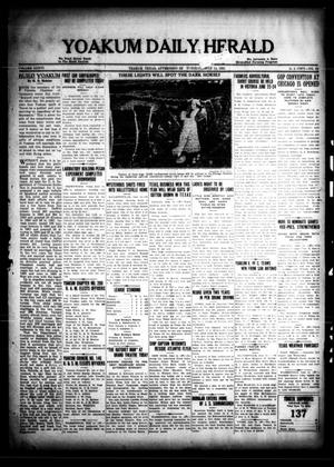 Primary view of object titled 'Yoakum Daily Herald (Yoakum, Tex.), Vol. 36, No. 62, Ed. 1 Tuesday, June 14, 1932'.