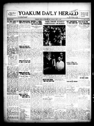 Primary view of object titled 'Yoakum Daily Herald (Yoakum, Tex.), Vol. 35, No. 129, Ed. 1 Tuesday, September 1, 1931'.