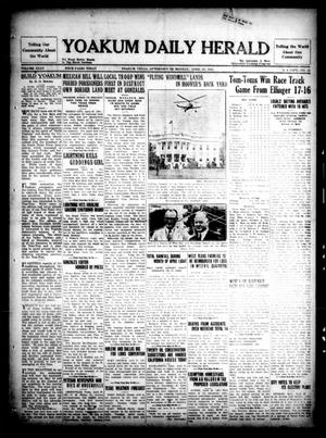 Primary view of object titled 'Yoakum Daily Herald (Yoakum, Tex.), Vol. 35, No. 22, Ed. 1 Monday, April 27, 1931'.