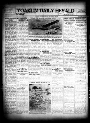 Primary view of object titled 'Yoakum Daily Herald (Yoakum, Tex.), Vol. 36, No. [213], Ed. 1 Monday, December 12, 1932'.