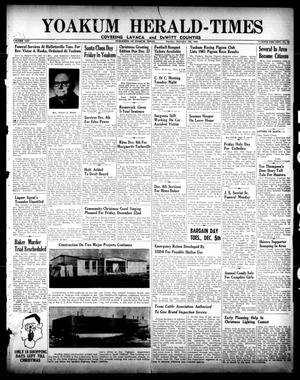 Primary view of object titled 'Yoakum Herald-Times (Yoakum, Tex.), Vol. 65, No. 95, Ed. 1 Tuesday, December 5, 1961'.