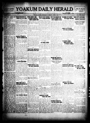 Primary view of object titled 'Yoakum Daily Herald (Yoakum, Tex.), Vol. 36, No. 7, Ed. 1 Friday, April 8, 1932'.