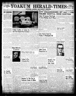 Primary view of object titled 'Yoakum Herald-Times (Yoakum, Tex.), Vol. 67, No. 32, Ed. 1 Friday, April 19, 1963'.