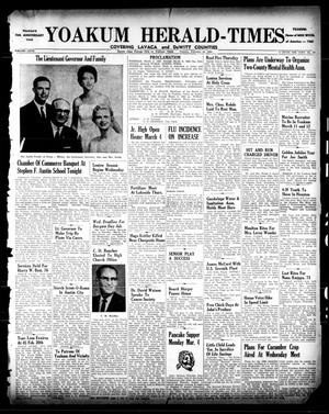 Primary view of object titled 'Yoakum Herald-Times (Yoakum, Tex.), Vol. 67, No. 17, Ed. 1 Tuesday, February 26, 1963'.