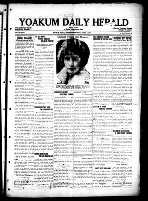 Primary view of object titled 'Yoakum Daily Herald (Yoakum, Tex.), Vol. 29, No. 3, Ed. 1 Friday, April 3, 1925'.