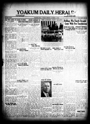 Primary view of object titled 'Yoakum Daily Herald (Yoakum, Tex.), Vol. 36, No. 172, Ed. 1 Sunday, October 23, 1932'.