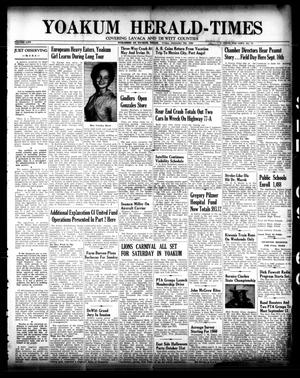 Primary view of object titled 'Yoakum Herald-Times (Yoakum, Tex.), Vol. 64, No. 71, Ed. 1 Friday, September 9, 1960'.