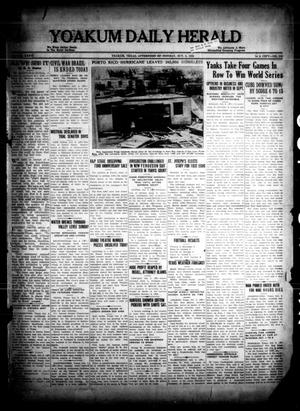 Primary view of object titled 'Yoakum Daily Herald (Yoakum, Tex.), Vol. 36, No. 155, Ed. 1 Monday, October 3, 1932'.