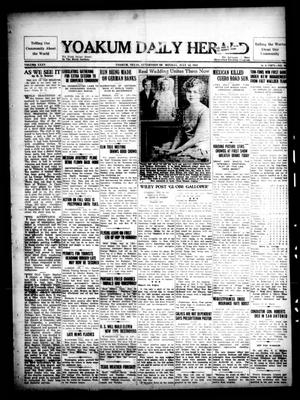 Primary view of object titled 'Yoakum Daily Herald (Yoakum, Tex.), Vol. 35, No. 87, Ed. 1 Monday, July 13, 1931'.